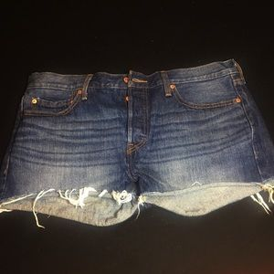 Levi's denim cut off shorts button fly size 31